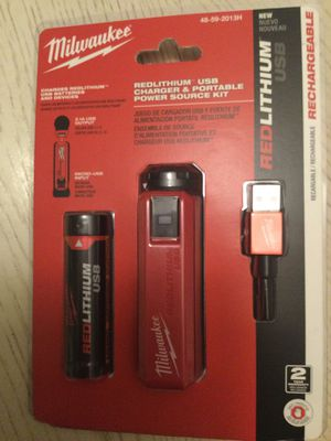 Milwaukee usb charger and battery for Sale in Anaheim, CA