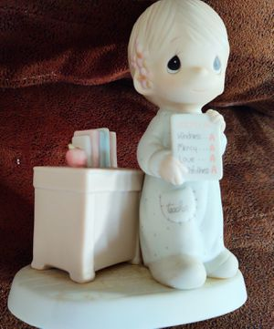 "Precious Moments ""Love Never Fails"" teacher gift collectible for Sale in Omaha, AR"