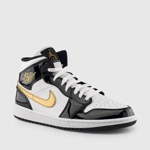 New Air Jordan 1 Black White Gold for Sale in CAPE ELIZ, ME