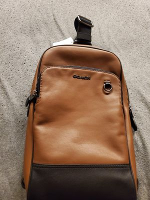 Authentic Coach Mens Saddle Brown Crossbody Graham Sling Back Pack Bag for Sale in Richmond, VA