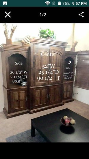Entertainment center dresser sold separate for Sale in Surprise, AZ