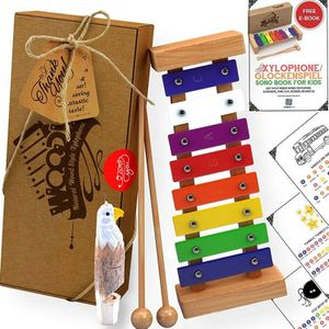 AGREATLIFE Wooden Xylophone | Child-Safe Kids Xylophone That Produces Harmonious Sound with Eagle Whistle for Sale in Sterling Heights, MI