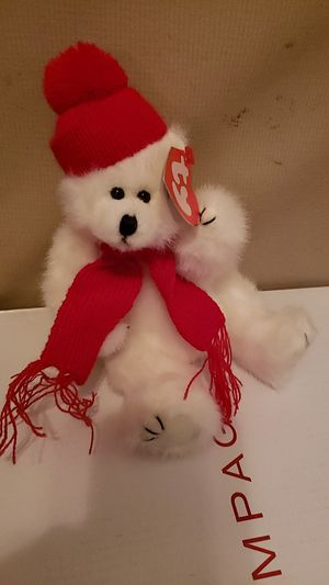 Peppermint ( white bear beanie baby) for Sale in East Wenatchee, WA
