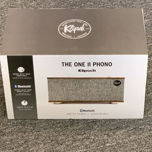 Brand New Sealed Klipsch The One II With Phono Wireless Tabletop Shelf Stereo, Walnut for Sale in Laguna Niguel, CA