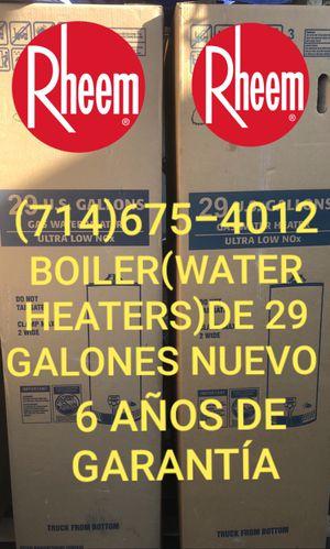 BOILER(WATER HEATERS)DE 29/30 GALONES NUEVO DE LA MARCA RHEEM!!! for Sale in Santa Ana, CA