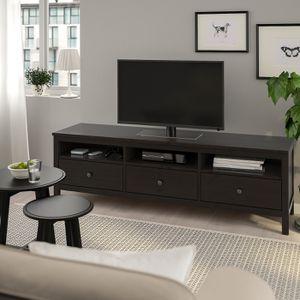 IKEA TV STAND ENTERTAINMENT CENTER (Hemnes Black/Brown) for Sale in Orlando, FL