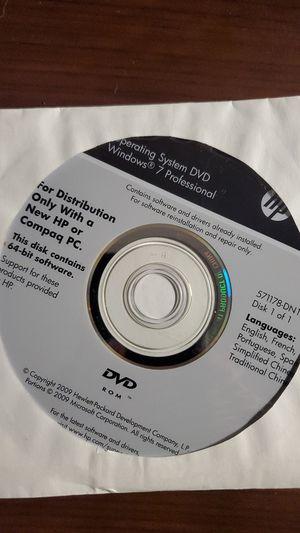 HP-COMPAQ WINDOWS 7 PRO 64BIT RECOVERY MEDIA for Sale in Manteca, CA