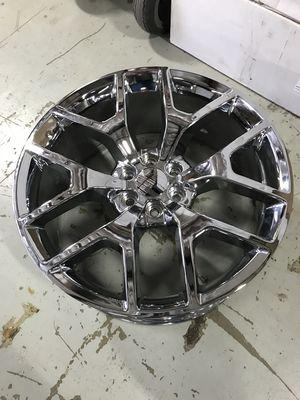 "Brand New 24"" Inch Chrome Denali Replica 24X10 Wheels Rims Rines Aros 6X139.7 6X5.5 for Sale in Austin, TX"