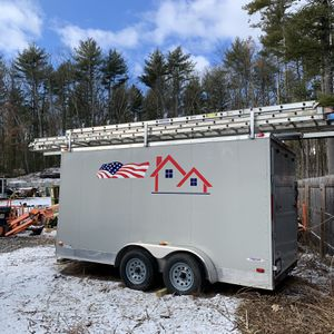 Freedom Enclosed Trailer 7 X 14 Plus 2' V-nose for Sale in Groveland, MA