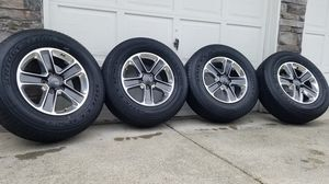 "Awesome 2020 jeep wrangler sahara 18"" wheels and tires for Sale in Spanaway, WA"