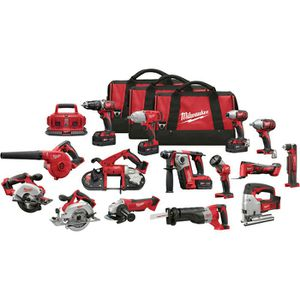 Milwaukee M18 Li-Ion Cordless Power Tool Set — 15-Tool Set, With 4 Batteries, Model# 2695-15 for Sale in Leesburg, VA