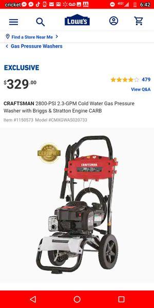 Craftsmen pressure washer 2800psi for Sale in Molalla, OR