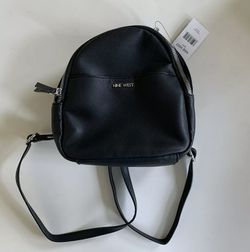 Black Nine West Faux Leather Mini Backpack NWT Adjustable Strap for Sale in Chantilly,  VA