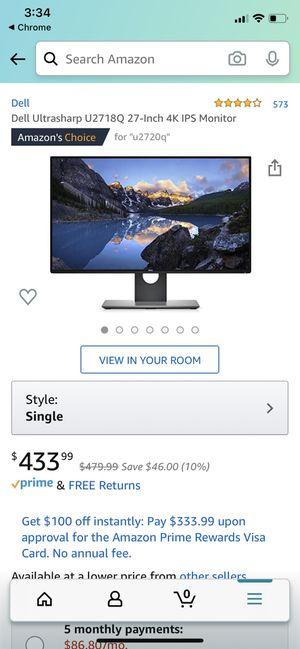 Dell Ultrasharp U2718Q 27-Inch 4K IPS Monitor for Sale in Lexington, KY