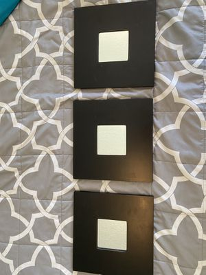 Three black wall mirrors for Sale in Coral Gables, FL