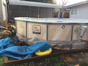Free large pool,cover,ladder, misc for Sale in Portland, OR