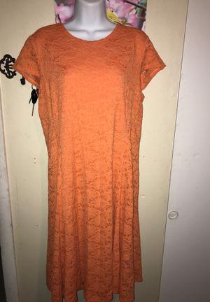 Orange lace Alfani dress size 14 for Sale in Brandon, FL