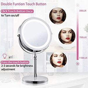 AMZNEVO Lighted Makeup Mirror 7X Magnifying 7 Inches 2-Sides Makeup Mirror with Lights and Magnification Touch Adjust Brightness Rechargeable Built-in for Sale in Hacienda Heights, CA