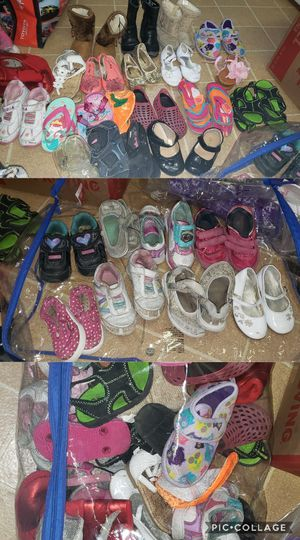 Toddler shoes for girls size 5• 8 boots shoes flip flops dress shoes tennis shoes for Sale in Jacksonville, FL