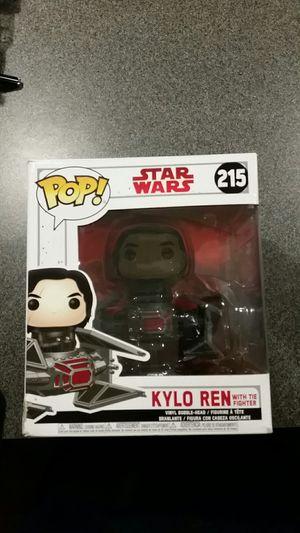Kylo Ren in Tie Fighter Funko Pop figure Star Wars toy vehicle Last Jedi for Sale in Hartford, CT