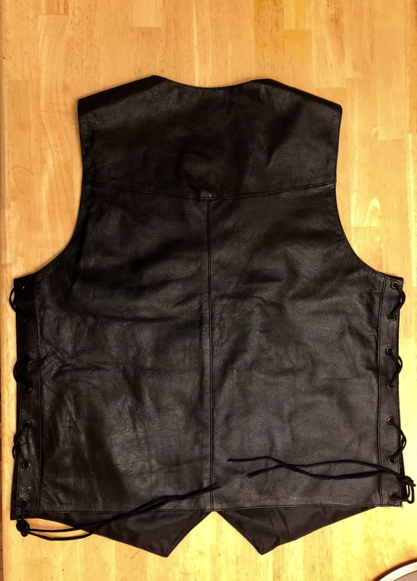Motorcycle jacket club vest .vest
