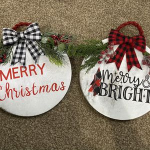 Christmas Wooden Doorhangers for Sale in Buffalo, NY