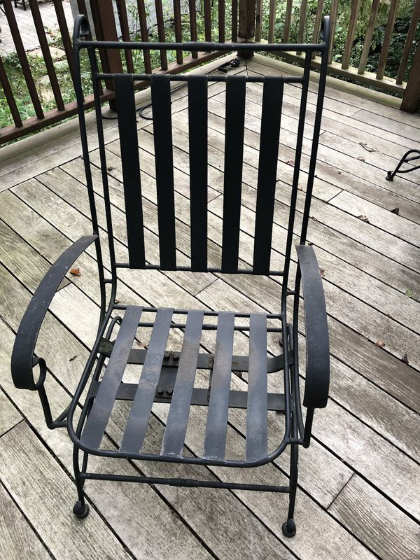 Metal outdoor patio table and chairs