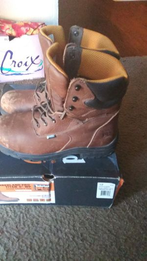 Timberland Pro Waterproof Steel Toe Boots only worn twice still has brand new smell asking 50$ for Sale in Dallas, TX