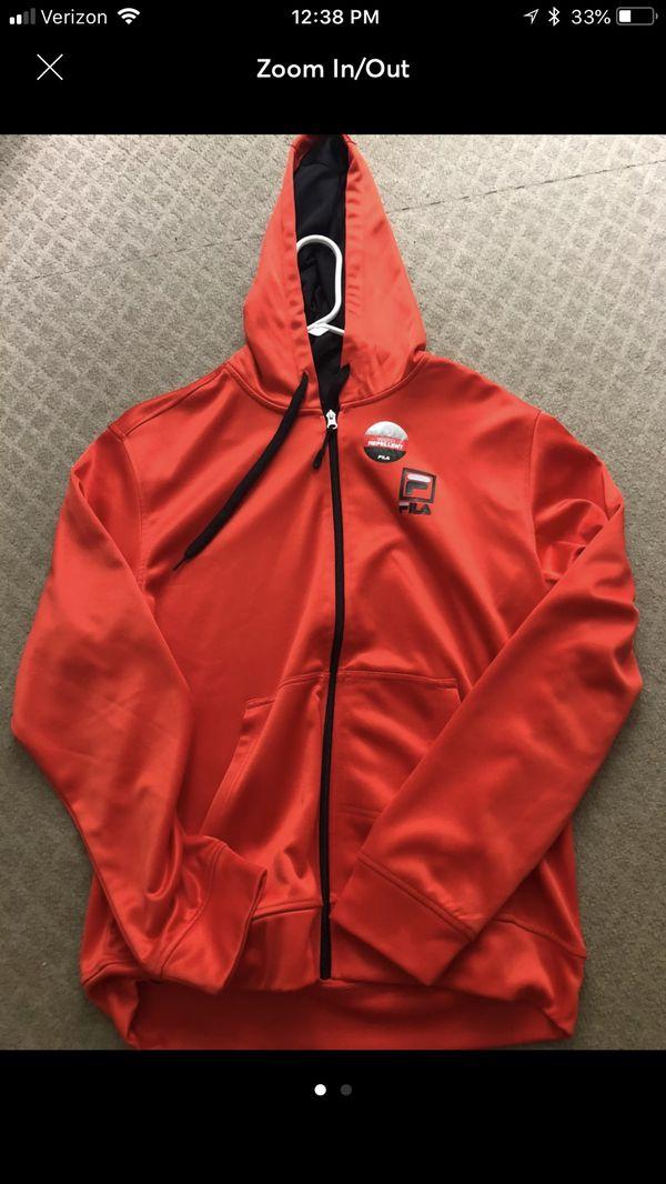 Orange fila hoody Track Jacket brand new small