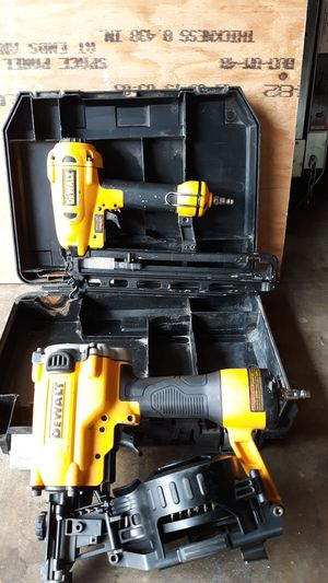 Dewall roofing nail gun and gun for crown molding for Sale in Downey, CA
