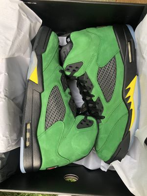 Jordan 5 Oregon Apple candy green retro Nike 10.5 12 for Sale in Silver Spring, MD