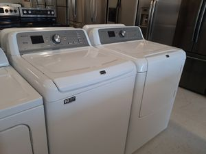 Maytag tap load washer and electric dryer set in good condition with 90 day's warranty for Sale in Mount Rainier, MD
