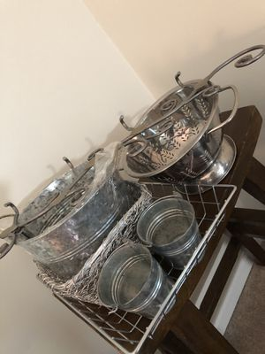 Lot of 7 Silver/Metal Decor Pieces. for Sale in New Britain, PA
