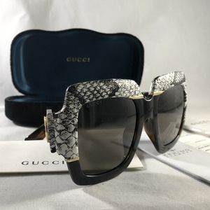 Gucci GG0484 brown white leather sunglasses for Sale in Los Angeles, CA