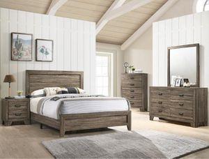 Bedroom set Queen bed +Nightstand +Dresser +Mirror. Mattress not included for Sale in La Habra, CA