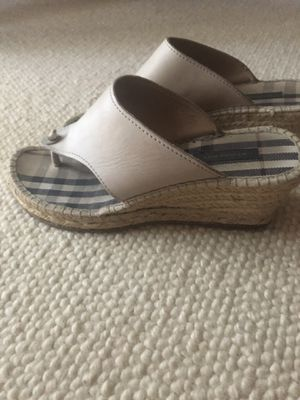 Burberry wedge sandals, so summer chic for Sale in West Hollywood, CA
