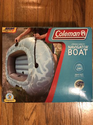 Coleman 1-person inflatable navigator boat for Sale in Beverly Hills, CA
