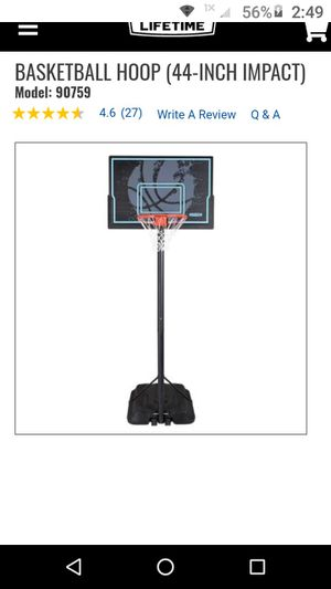 Basketball goal.....portable an adjustable for Sale in Orange, TX