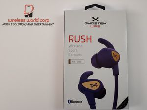 Ghostek Rush Sport Bluetooth Wireless Water Resistant Earbuds (Blue/Gold) for Sale in Indianapolis, IN
