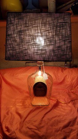 3 liter Crown Royal Fine De Luxe Canadian Whiskey bottle lamp for Sale in Evansville, IN