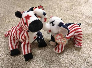 Lefty and Righty Patriotic Beanie Babies 2000 for Sale in Nottingham, MD