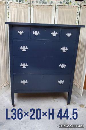 Chest dresser refinished dark blue for Sale in Cedar Hill, TX