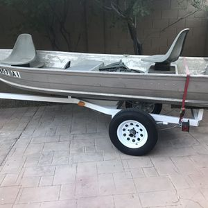 12' Sea King Aluminum Fishing Boat for Sale in Peoria, AZ