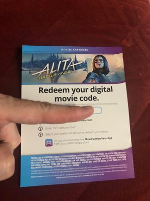 Alita (Digital Code Only) Blu-ray!! for Sale in Los Angeles, CA