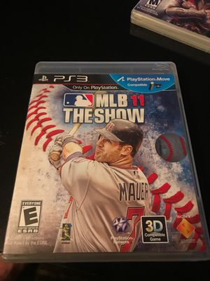 PS3 mlb the show 11 for Sale in East Lansing, MI