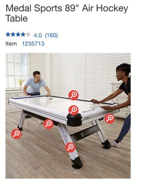 "Medal Sports 89"" Air Hockey Table for Sale in Riverside, CA"