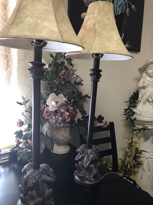 """2 Vtg Table Lamps 32"""" tall for Sale in West Palm Beach, FL"""