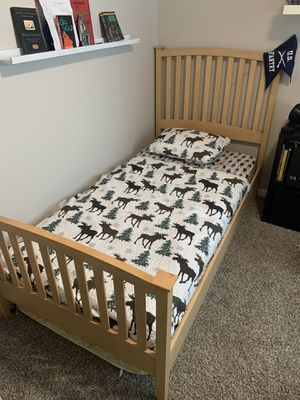 Wood Twin XL Bed Frame for Sale in Fife, WA