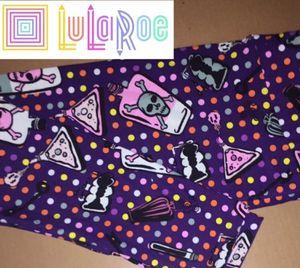 LuLaRoe TC Leggings Polka Dots Skulls for Sale in East Peoria, IL