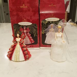 Barbie Christmas Ornaments Hallmark Keepsake Collectors Series for Sale in Chevy Chase, MD